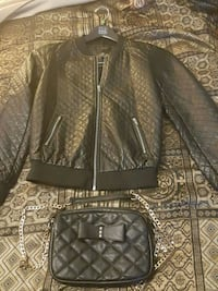 Lady Leather jacket and pause  Laurel, 20707