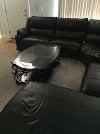 black leather sectional sofa with ottoman Upper Marlboro, 20774
