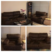 brown suede 3-seat sofa Herndon, 20171