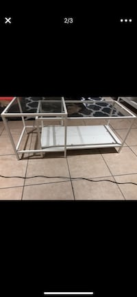 Excellent condition glass white couch table living room Weston, 33331