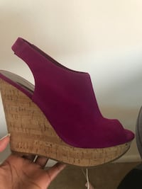 unpaired purple suede peep-toe wedge Alexandria, 22302