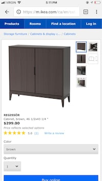 Moving sale!-ikea cabinet in perfect condition