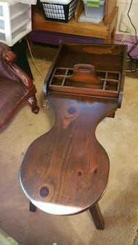 Wooden coffee table cobbler's bench w serving tray Richmond, 23235