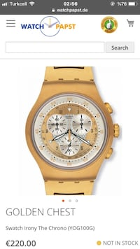 Swatch golden chest marka erkek saati...