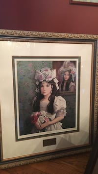 """Pati Bannister """"Now and Then"""" signed print Long Beach, 39560"""