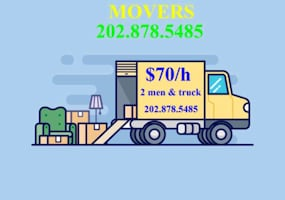 (LAST MINUTE MOVING TWO MEN & BOX TRUCK) (TWO MEN & BOX TRUCK 7DAYS