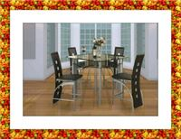 Counter height glass dining table 4 chairs Ashburn, 20147