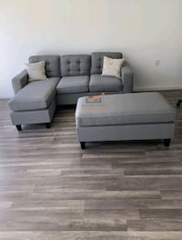 Brand New Light Grey Linen Sectional Sofa Couch  Wheaton-Glenmont, 20902