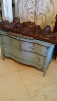 Lowboy dresser/with hanging mirror.42in long by 22in wide by 25in tall Cape Coral, 33993
