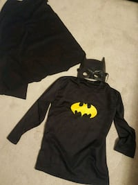 batman shirt, cape and mask for kids
