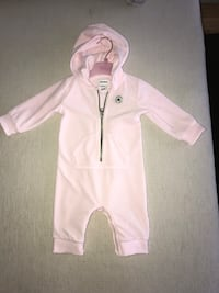 Converse Pink Velour All-In-One 6-9 month