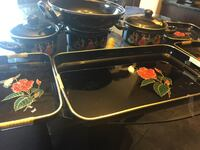 New Set of 4 trays, 2 pots with lids and one server  Edmonton, T6R