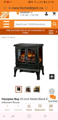 Small portable fireplace Durham