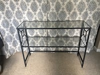 Black iron table with glass tops Dayton, 45459
