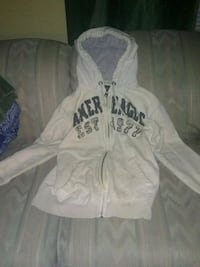 white and black zip-up hoodie Hagerstown, 21742