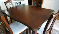 rectangular brown wooden dining table w/4 chairs Aurora, L4G 7N7