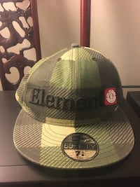 New Era grey and green Element 59fifty fitted cap