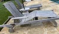 Two Kingsley Bates Classic Chaise pool loungers