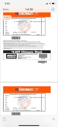FC Cincinnati Tickets 7/21/19 Cincinnati, 45209