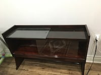 brown wooden framed glass display cabinet Toronto, M3A 3M3