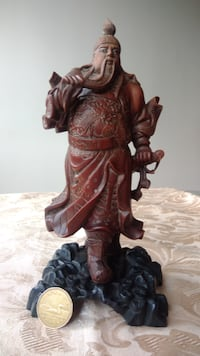 rare fine detailed old Oriental/chinese wood carvi