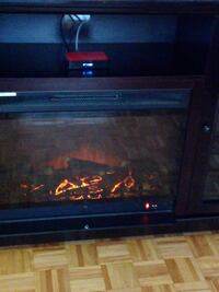 black and gray electric fireplace Dollard-des-Ormeaux, H9B 1P4
