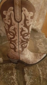 pair of brown leather cowboy boots Semmes, 36575
