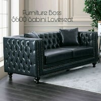 black leather 2-seat sofa Lake Elsinore, 92530