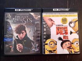 Fantastic beasts and Despicable me 4K and Blu Ray