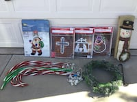 "Christmas decorations lighted hangings, 20"" wreath & hook, candy canes Albuquerque, 87120"