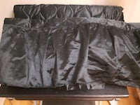 Black twin size satin bed spread with skirt Brampton, L6Z