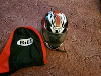 Bilt Red and Black Motorcycle Helmet  Bainbridge, 17502