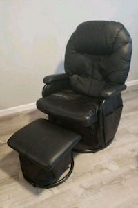 Black rocker recliner with otoman Bethesda, 20817