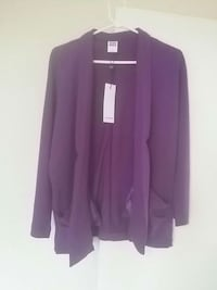 women's purple open cardigan Ottawa, K2E 6K6