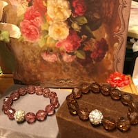 Beautiful!!! Beaded Stretch Bracelets with Diamond Crystals Gainesville, 20155