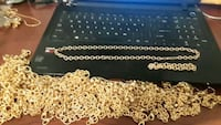 Gold Plated Necklace and Bracelet Set Morrow, 30260