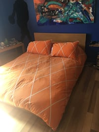 Ikea double bed with mattress  Dollard-des-Ormeaux, H9G 2Y1