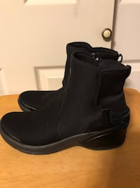 B Zees Mojo Women's Sz 10M Black Knit Wedge Zipper Ankle Boots w/Cloud Technology Nottingham, 21236