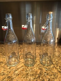 3 Glass Bottles with stoppers Mississauga, L4Z 4A1