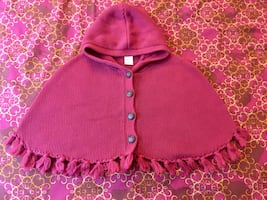 Girl poncho size 4-5T