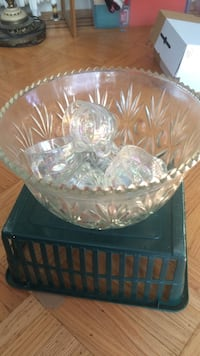 clear cut glass punch bowl set Surrey, V3V