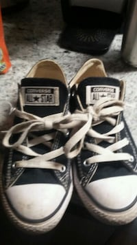 pair of black Converse All Star high-top sneakers 473 km