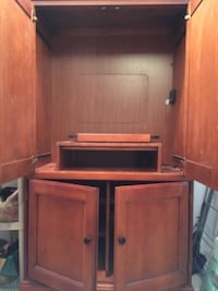 Solid cherry entertainment center or storage cabinet 33 km