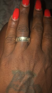 silver and gold ring with diamond Temple Hills, 20748