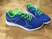 BRAND NEW (never worn) Blue-and-green low top sneakers Toronto, M1L 1L3