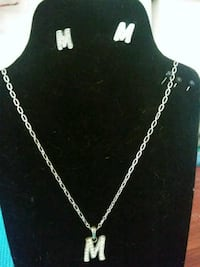 M necklace with earrings Redding, 96002