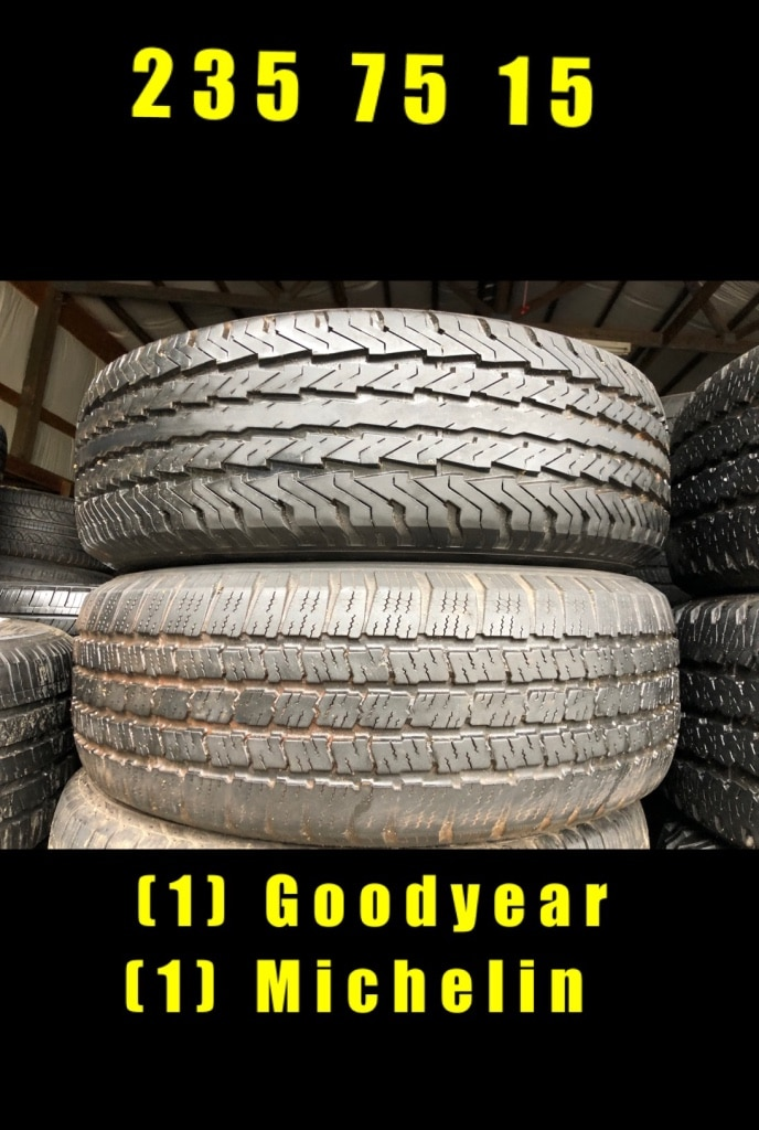 Photo 235 75 15(1) goodyear (1) michelin$80 for both