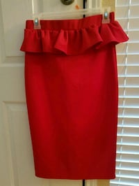 Red skirt with Ruffle 1264 mi