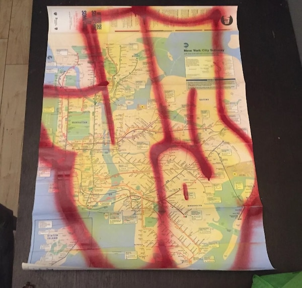 New York Subway Map For Sale.Used Ja Xtc Mta Subway Map Living Legend For Sale In New York Letgo
