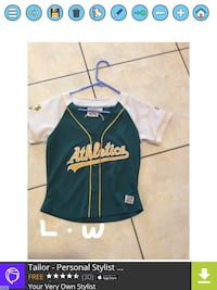 green and white Athletics jersey shirt Brownsville, 78521